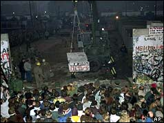 The Berlin Wall is demolished