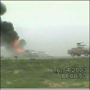 BBC footage of a friendly fire incident in Iraq