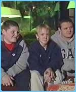 Jamie with his mates Tom Felton and Joshua Herdman