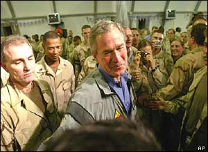 Bush at Baghdad base