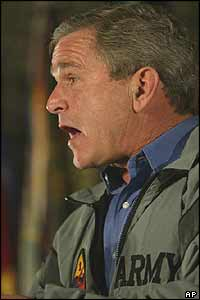 Bush addresses soldiers