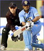 Sachin Tendulkar in action for India