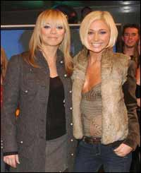 Atomic Kittens Liz McLarnon and Jenny Frost
