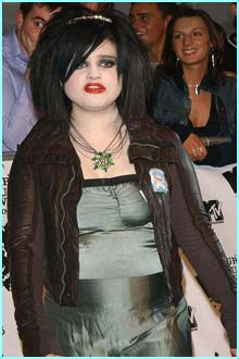 Kelly Osbourne looks like she's dressed for a Halloween party - that was last week!