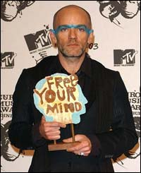 REM's Michael Stipe delivers his message