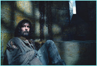 A first look at Sirius Black in his cell in Azkaban, the Wizard prison, from the new Harry Potter film
