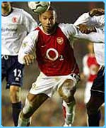 Arsenal star Thierry Henry plays for France