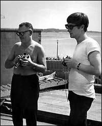 Photographer Dezo Hoffman and John Lennon
