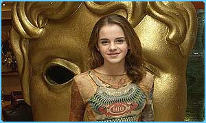 Emma Watson, who plays Hermione, picked up the award