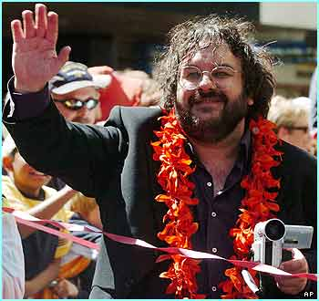 And here's the man who made the films possible, top New Zealand director Peter Jackson