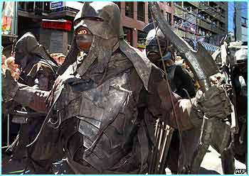 And as if they weren't scary enough, lots of their Uruk-hai mates were also in the parade