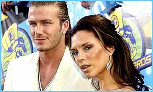 Victoria with footballer husband David Beckham