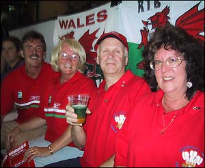 Wales fans sample the local culture