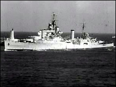 "Cruiser ""Superb"" at sea"