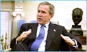 George Bush is visiting the UK next week