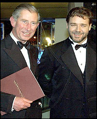 Prince Charles and Russell Crowe