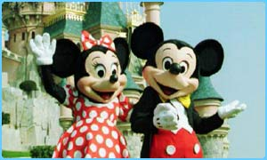 Mickey Mouse with Minnie Mouse