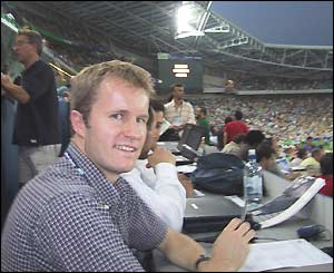 Our man down under Bryn Palmer sits in the press box at the semi-final
