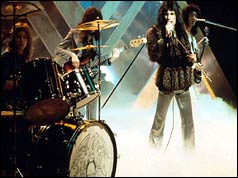 Queen performing on the BBC's Top of the Pops
