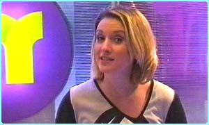 Laura presents Newsround