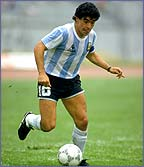 Maradona on the ball
