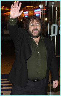 But Peter Jackson, the director, isn't quite so glamorous. But he does look on top of the world!