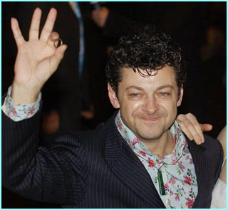'We has it at last!' Andy Serkis, who plays Gollum, shows off a ring