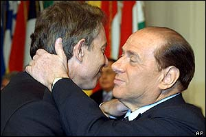 Bbc news in depth photo gallery the day in pictures tony blair and silvio berlusconi m4hsunfo