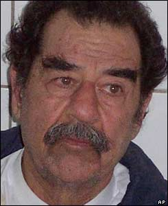 Saddam Hussein after examination