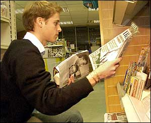 Prince William shopping