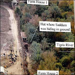 US military photo shows spot where Saddam was hiding