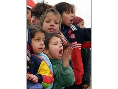 Children cheering