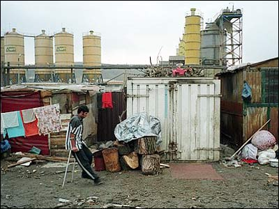 Factories behind Pata Rat camp