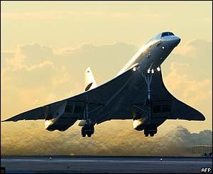 el avion jet. Concorde