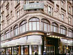 Front entrance of Harrods