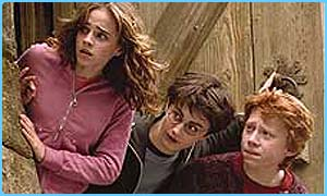Hermione, Harry and Ron in Potter 3 - Prisoner Of Azkaban