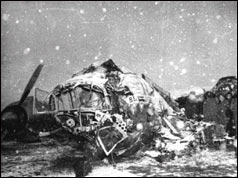 Plane wreckage at Munich airport