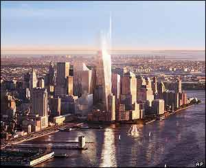 Artist's impression of Freedom Tower