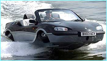 A car was developed that was also a high speed boat. The Aquada Sports Amphibian was road - or should that be water - tested in London in September and became known as the 'bond-car'