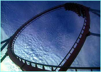 In July a university lecturer broke his own record for riding rollercoasters in a theme park in Germany.