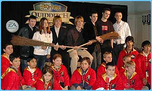 The Potter cast meet the players