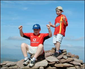 Gavin and Geraint Sibley on top of Pen-y-fan in the Brecon Beacons (Kevin Sibley)
