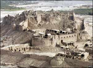 Destruction of the historic fortress of Bam