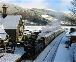Trevor King from Bristol took this scene of Llangollen railway at Christmas in the snow