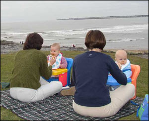 This is a last chance for a picnic before the winter weather in Ogmore by Sea (Stuart Cane, Cardiff)
