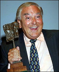 Bob Monkhouse at Television & Radio Industries Club (TRIC) Awards in London in March 2003