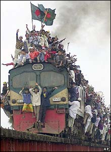 Train leaving Tongi