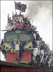 Train leaving Tongi