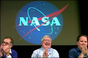 Mars Exploration project members at a Nasa press conference