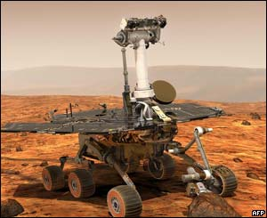 Artist's picture of Nasa Mars exploration Rover
